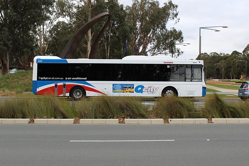 Queanbeyan bus in Canberra