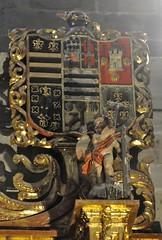 Astorga (León-España). Catedral. Capilla de Santiago Peregrino. Retablo barroco, siglo XVII. Escudo (santi abella) Tags: astorga león castillayleón españa catedraldeastorga heráldica escudos