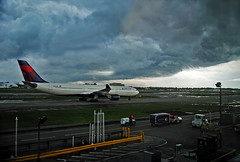 Storm over ATL (Infinity & Beyond Photography) Tags: thunderstorm storm clouds weather atl atlanta airport delta airlines a330 sky skies