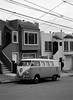 Outer Mission // San Francisco (bior) Tags: fujifilmga645zi ga645zi ilfordfp4plus125 fp4 fp4plus ilfordfilm sanfrancisco 6x45cm 645 mediumformat filmphotography film outermission homes houses rowhouse street volkswagen microbus bus bulli car transporter powerlines