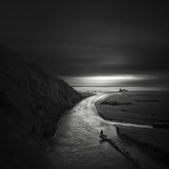 runoff (nlwirth) Tags: nlwirth yup cannonbeach oregon water sea seascape longexposure blackandwhite monochrome sand light ocean