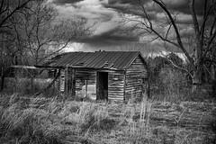 Abandoned Shed in Monochrome (Modkuse) Tags: monochrome bw blackandwhite rural country storm stormclouds stormyday nikon nikondslr nikond700 dslr 50mmf18 50mmf18nikkor