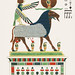 Amon, Amon-ra illustration from Pantheon Egyptien (1823-1825) by Leon Jean Joseph Dubois (1780-1846). Digitally enhanced by rawpixel.
