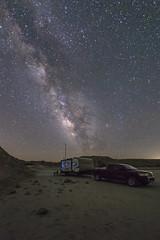Camping Under the Milky Way In The Anza-Borrego Desert (slworking2) Tags: borregosprings california unitedstates us anzaborrego anzaborregodesertstatepark rv camper camping trailer truck nissan titan splitmountain desert nightsky milkyway