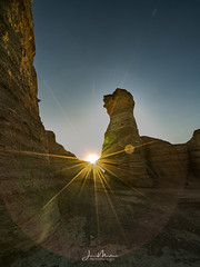 Sunburst in the Rocks (Wits End Photography) Tags: view natural landscape sunrise kansas nature scenic sky grassland sunburst rural country picturesque monumentrocks am dawn daybreak daylight early firstlight light morn morning outdoor outside sunup