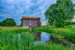 Franklin Creek Grist Mill (kendoman26) Tags: hdr nikhdrefexpro2 nikon nikond7100 tokinaatx1228prodx tokina tokina1228 franklingroveillinois franklincreekgristmill travelillinois enjoyillinois reflection