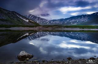 Lago di Pietranzoni: ora blu / blue hour