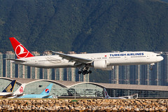 TURKISH AIRLINES B777-300ER TC-LJG 002 (A.S. Kevin N.V.M.M. Chung) Tags: aviation aircraft aeroplane airport airlines plane spotting boeing b777300er b777 worldliner landing hkg