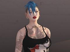 Persie is a punk rocker (beccaprender) Tags: catwa catya bento maitreya lara glamaffair rina hypnose punk tattoos piercings stretchedears boundelegance boundtoexcite