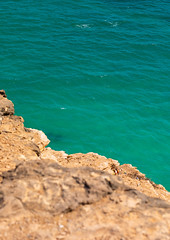 Cliff over the green water, Dhofar Governorate, Taqah, Oman (Eric Lafforgue) Tags: arabia arabianpeninsula bayofwater beautyinnature cliff colorimage copyspace day dhofar green gulfcountries middleeast nature nopeople oman oman18168 photography rock salalah sea sultanate summer sunlight sunny taqah traveldestinations turquoisecoloured vertical water dhofargovernorate om