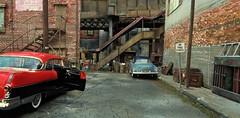 Alleyway Bridge (gpholtz) Tags: diorama miniatures 118 diecast 1955 pontiac