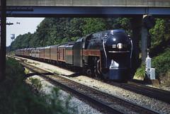 Crewe (jameshouse473) Tags: nw ns norfolk southern western 611 classj crewe virginia watertank 1982 passenger train railway railroad