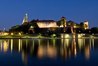 Wawel Castle, Kraków, in the blue hour