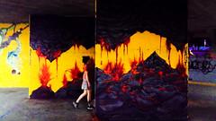 Trought the fire and the flames (simone.pelatti) Tags: lava fire graffiti walk urbanart braveness