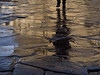 stepping forward (Cosimo Matteini) Tags: cosimomatteini ep5 olympus pen m43 mzuiko45mmf18 arezzo italia paving reflection shadow step person rain steppingforward