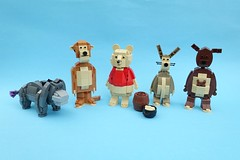 Winnie the Pooh & friends (-Balbo-) Tags: lego moc winnie pooh balbo tigger disney bauwerk creation figures eeyore piglet rabbit kanga roo christopher robin movie