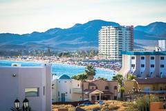 A look at Playa Algadones during Semana Santa.  So many people!