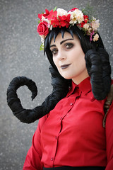 Don't Starve Willow cosplayer at ExCeL London's MCM Comic Con, May 2018 (Gordon.A) Tags: london docklands londondocklands excel excellondon excellondonexhibitioncentre moviecomicmedia mcm con convention comicbookconvention comiccon mcmcomiccon mcmlondon comicconlondon comicconlondonexcel 2018 may2018 mcm2018 creative costume culture lifestyle style dontstarve willow cosplay cosplayer cosplayportrait cosplayphotography festival event eventphotography amateur pose posed portrait portraitphotography streetportrait streetphotography colourportrait colourstreetportrait naturallight naturallightportrait canon eos 750d canoneos750d digital sigma sigma50100mmf18dc