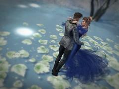 #191  romantic dancing...... (ЙёКσ) Tags: virtualavatar beautifulscene secondlifephotographer creative luanesmagicalworld sl secondlife slblogger dress couple love dance