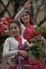 The Rose Court (Scott 97006) Tags: flowers woman females ladies wave parade bouquet roses