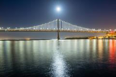 Moon over the Bay Bridge (dr_stan3) Tags: full moon water reflection night longexposure bay bridge sanfrancisco canon