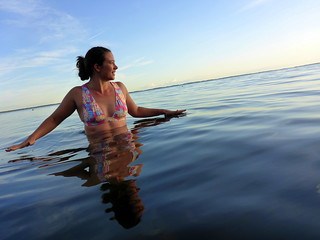 Evening dip in the North Sea