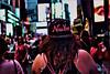 Back In New York (raymondclarkeimages) Tags: raymondclarkeimages 8one8studios rci google usa smugmug xseries outdoor flickr fujifilm apsc yahoo x100f street colors effect ny hat newyork city hair focus blur backwards mirrorless people rear baseballcap square timessquare nyc style coloredborder streetphotography
