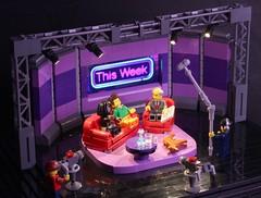 This Week - BBC (Missing Brick) Tags: lego tv studio camera mic led lighting sofa