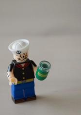 Popeye minifigure by Kopf (John Erik Taylor) Tags: bootleg lego minifigures fake blocks toys toy china chinese bricks cheap popeye