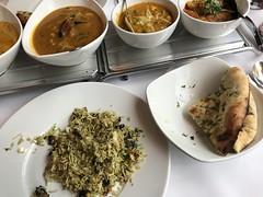 Main Course (AndrewHA's) Tags: asian main course food butter chicken lamb motoebpaneer cheese peas bombay potatoes keema nann mushroom rice