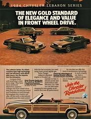 1984 Chrysler LeBaron Series (Canadian Ad) (aldenjewell) Tags: 1984 chrysler lebaron town country convertible station wagon coupe four door sedan canadian ad ricardo montalban