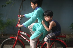 The Ride Of A Lifetime (N A Y E E M) Tags: sameer umar kalam son nephew bicycle candid colors light ramadan lateafternoon lawn home rabiarahmanlane chittagong bangladesh sooc raw unedited untouched uma lulu