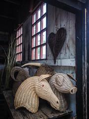 Willow Wonders (Siobhán Bermingham) Tags: ireland craft ulster pig masks heart animals straw wicker horse