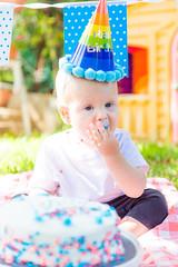 smash cake-14 (lermaniac) Tags: red smashcake cake brthday party birthday outdoors garden yard family kids children boy baby couple familyphoto