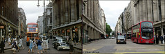 Orchard Street`1960-2018 (roll the dice) Tags: london westminster w1 oxfordstreet old fashion ww2 bombs blitz local history shops shopping windows columns bargain changes collection canon tourism tourists streetfurniture architecture oldandnew pastandpresent hereandnow uk art classic urban england travel transport rt bravingtons lights people traffic crossing cars lincolncapri stmichael gordonselfridge arriva passengers grade2listed portman trees bush colour surreal retro bygone nostalgia comparison vanished demolished mad