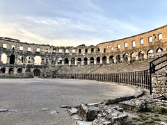 Fence (aiva.) Tags: croatia istria pula hrvatska istra adriatic jadran sunset ruins ancient balkan coliseum arena amphitheater antic architecture