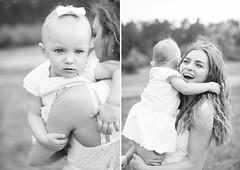 Mira and Yana (Yulchonok) Tags: family blackwhite monochrome diptych people child portrait