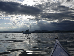 Calm before the storm... (Päivi ♪♫) Tags: norway oslo oslofjord kayak paddling daytrip darkclouds calm