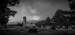 "Ruin of a old Church near Knin/Croatia (rockheadz) Tags: kroatien croatia landschaft landscape wolken himmel sky clouds ""blackabdwhitephotography"" graveyard church"