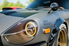 Midnight (GmanViz) Tags: gmanviz color car automobile vehicle nikon d7000 nissan datsun fairlady 240z headlight fender mirror wheel tire hood custom modified