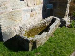 Church - St Mary, Kirkby Lonsdale 180405 [stone casket] (maljoe) Tags: church churches stmarys kirkbylonsdale stmaryskirkbylonsdale stmaryschurchkirkbylonsdale stainedglass stainedglasswindow stainedglasswindows