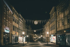 Urban milky way... (b_represent) Tags: coburg christmas streetlights alley