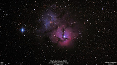 M20_April2018_HomCavObservatory_ReSizeDown2HD (homcavobservatory) Tags: homcav observatory m20 trifid nebula emission reflection dark nebulae open star cluster sagittarius 8inch f7 criterion newtonian reflector canon 700d dslr zwo autoguider losmandy g11 mount astronomy astrophotography