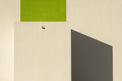 Green and white wall (Jan van der Wolf) Tags: map182163v white green groen wit shadowplay schaduwspel schaduw wall muur drain geometric geometry geometrisch geometrie minimalism minimalistic minimalisme minimal minimlistic fuerteventura