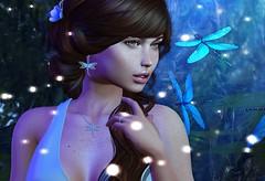 Fireflies (Aleriah.) Tags: cae kaithleens keke truth sl second life secondlife virtual girls fashion blush uber fireflies lost unicorn blue ikon foxcity