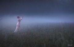 Waldkind (!Koss) Tags: model forest wald woman urwald sababurg blond fog busty beauty mystic fairy tale spiritual see through thru dress