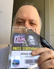 Day 2325: Day 135: Cred (knoopie) Tags: 2018 may iphone picturemail doug knoop knoopie me selfportrait 365days 365daysyear7 year7 365more day2325 day135 siff pressscreenings credentials