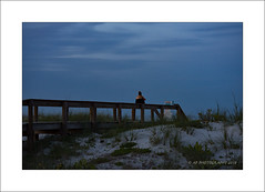 Alone at last (prendergasttony) Tags: sea blue outdoor beach florida america d7200 brown jacksonville atlantic water sky ocean wood nikon tony prendergast usa cloud evening sunset outdoors peaceful relaxing quite duval waves grass landscape phone