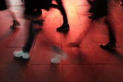 pedestrians (jhnmccrmck) Tags: melbourne victoria 3000 fujifilm fujifilmxt1 xt1 classicchrome red street blurred iminexplore explore melbournenights
