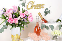 Frosé Bar Bouquet (ProFlowers.com) Tags: frosé party rosé wine cheers eucalyptus ice bucket carnations toothpick roses pink alstroemeria cider mason jar vase bouquet cocktail cocktails